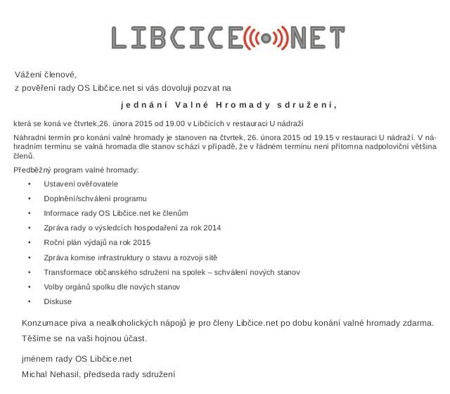 Valná hromada libcice.net