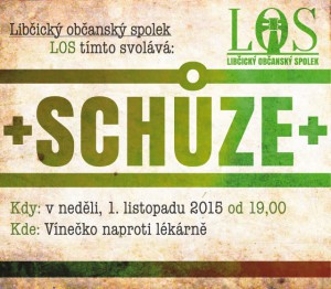 Schůze LOS: 1. 11. 2015