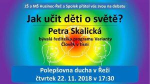 Debata: Jak učit děti o světě? @ Polepšovna ducha, Řež | Husinec | Středočeský kraj | Česká republika