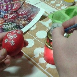 voskování kraslice