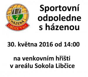 Sportovní odpoledne s házenou @ venkovní hřiště Sokola Libčice  | Libčice nad Vltavou | Středočeský kraj | Česká republika
