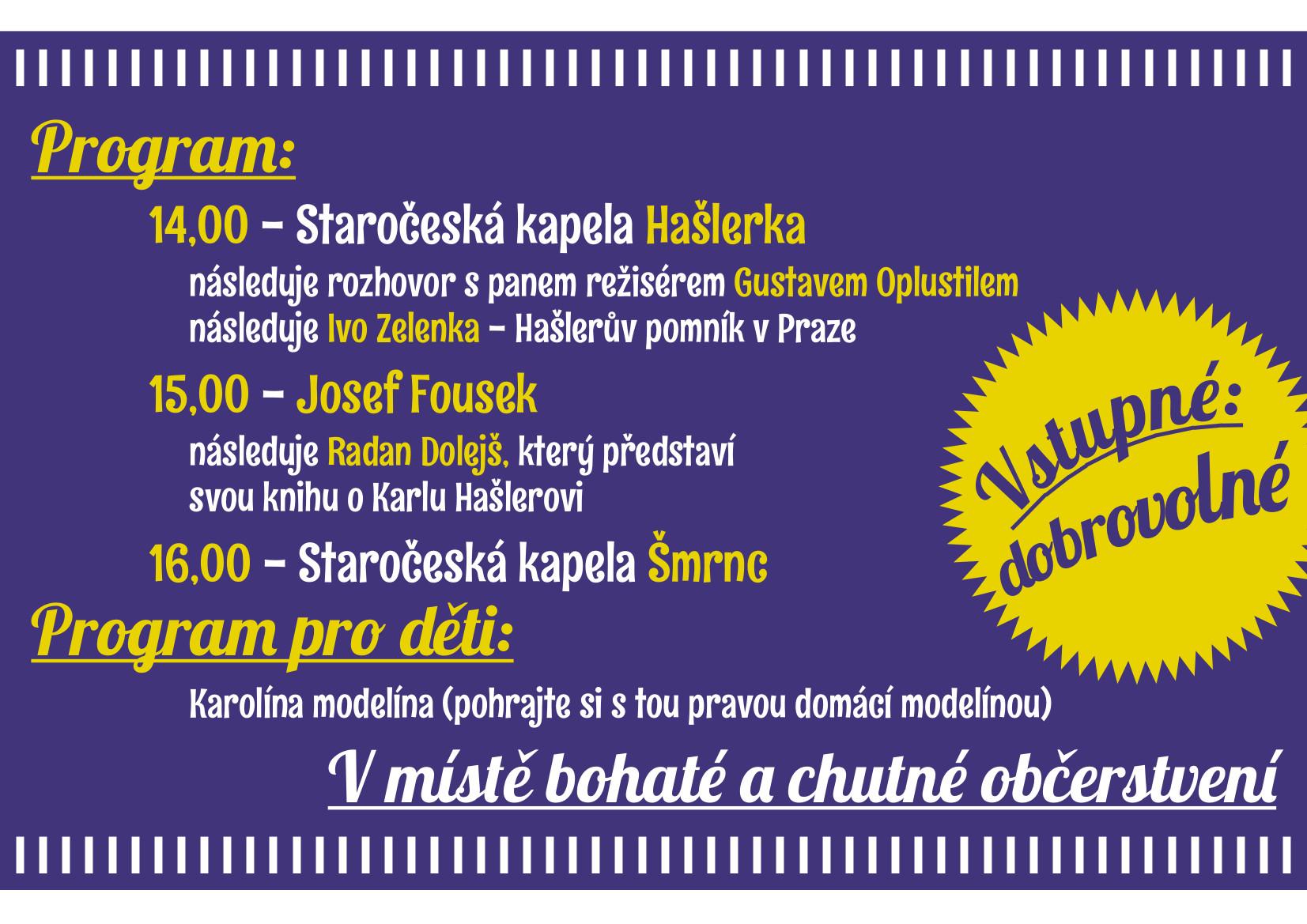 3. libčická Hašlerka -program