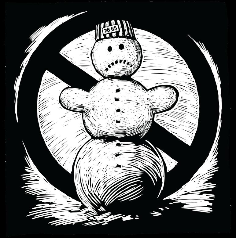Přes přísný sněhulák