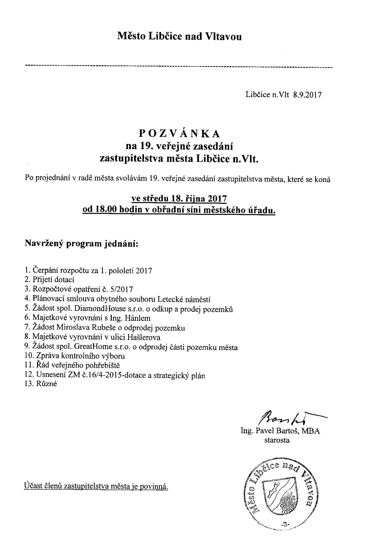 Program zastupitelstva