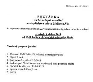 22. veřejné zasedání zastupitelstva @ obřadní síň městského úřadu   Libčice nad Vltavou   Středočeský kraj   Česká republika