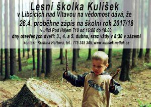 Zápis do lesní školky Kulíšek @ Zázemí Kulíšku