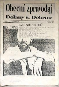 obecní noviny Dolany & Debrno: 03/1992