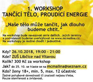 Workshop: tančící tělo, proudící energie @ ZUŠ Libčice | Libčice nad Vltavou | Česko