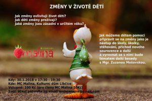 Změny v životě dětí @ MC Malina, KD Libčice