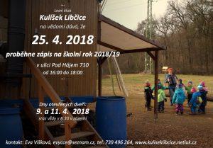 Zápis do Lesního klubu Kulíšek @ zázemí Kulíška u lesa
