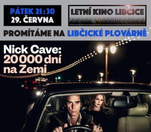 Letní kino: Nick Cave: 20 000 dní na Zemi @ Libčická plovárna | Libčice nad Vltavou | Středočeský kraj | Česká republika