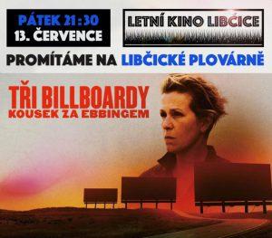 Letní kino: Tři billboardy kousek za Ebbingem @ Libčická plovárna | Libčice nad Vltavou | Středočeský kraj | Česká republika