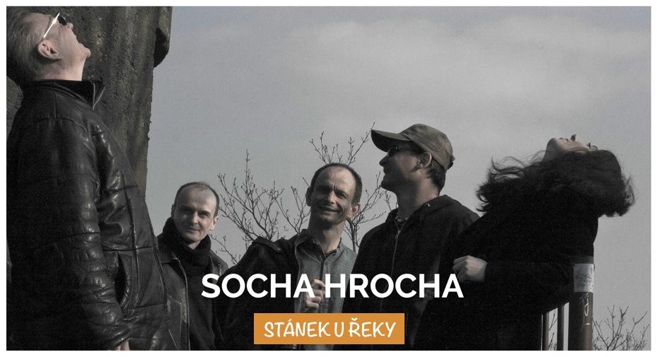 Stánek u řeky - Socha Hrocha