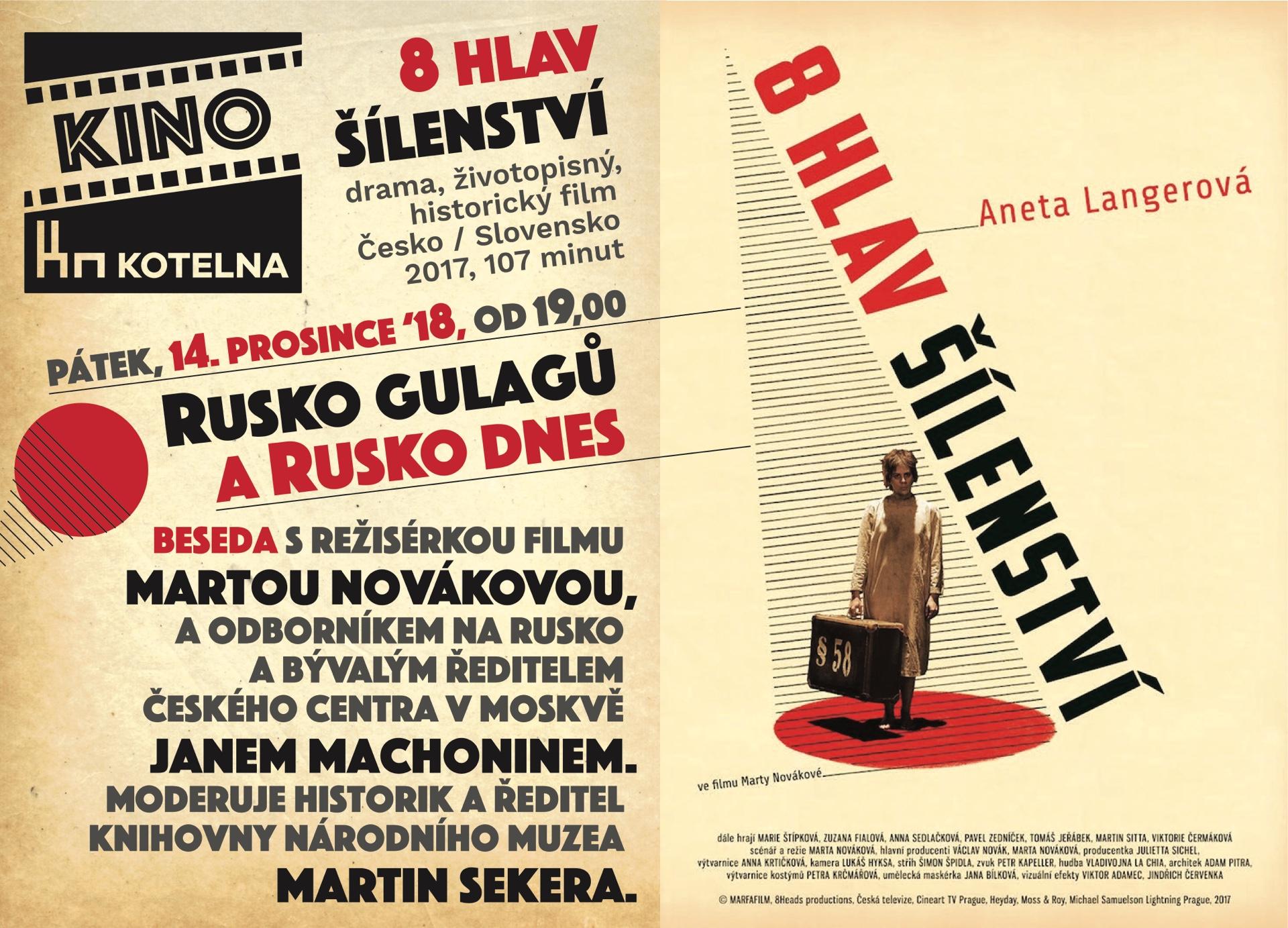 Kino Kotelna - 8 hlav s besedou