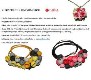 Výroba šperků z FIMO hmoty @ Kulturní dům Libčice