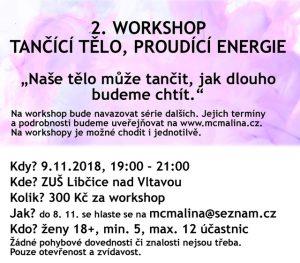 2. workshop: tančící tělo, proudící energie @ ZUŠ Libčice | Libčice nad Vltavou | Česko