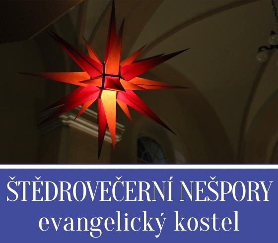 Štědrovečerní nešpory v evangelickém kostele