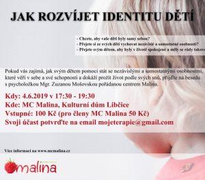 Jak rozvíjet identitu dětí? @ MC Malina, KD Libčice