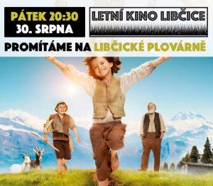 Letní kino pro děti: Heidi, děvčátko z hor @ Libčická plovárna | Libčice nad Vltavou | Středočeský kraj | Česká republika
