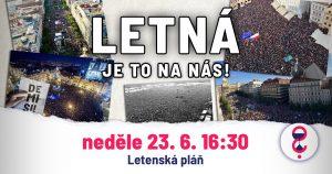 LETNÁ - je to na nás @ Letenská pláň, Praha