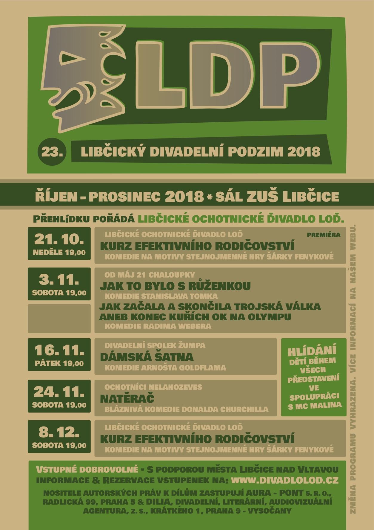 program: Libčický divadelní podzim 2018