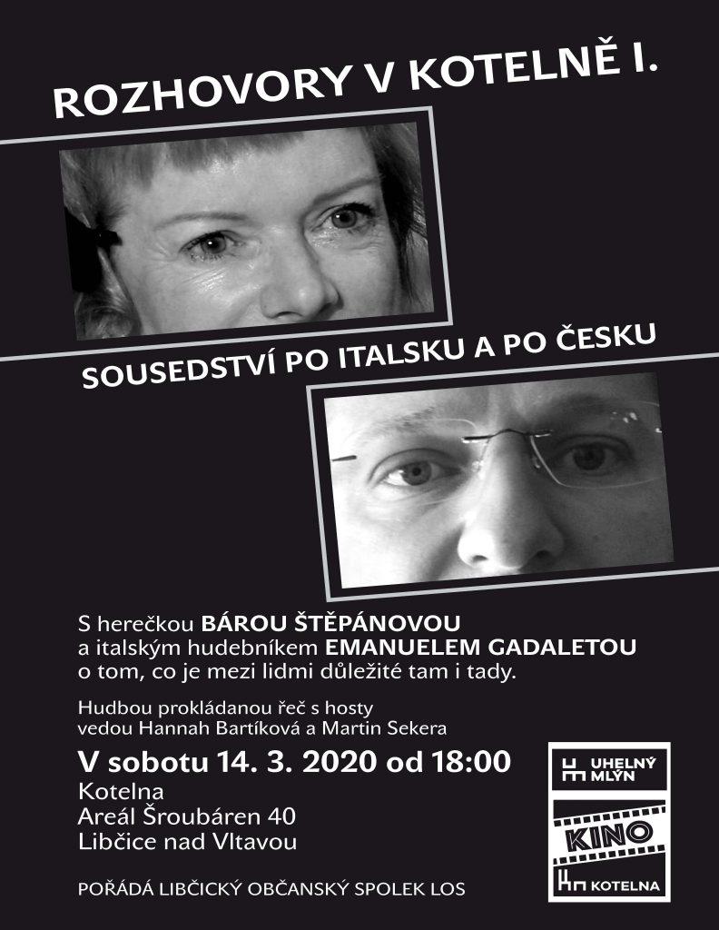 ZRUŠENO: Sousedství po italsku a po česku @ Kotelna Libčice