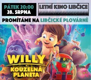Letní kino pro děti: Willy a kouzelná planeta @ Libčická plovárna | Libčice nad Vltavou | Středočeský kraj | Česká republika