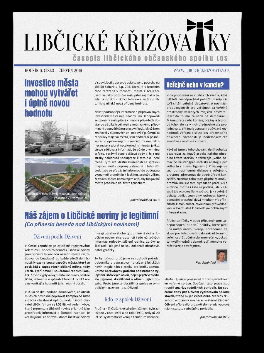 Libčické křižovatky č.1/2019