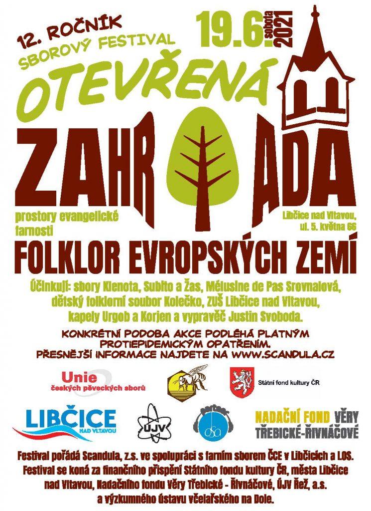 Festival sborového zpěvu Otevřená zahrada @ Kostel ČCE a farní zahrada